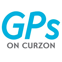 GPs on Curzon logo, in a white background