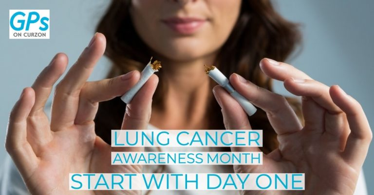 Start your day one of quitting to smoke with help of GP, Lung Cancer Awareness Month