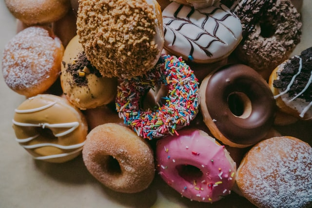 A diet rich in added sugar can tighten your risk for heart disease such as eating too many donuts