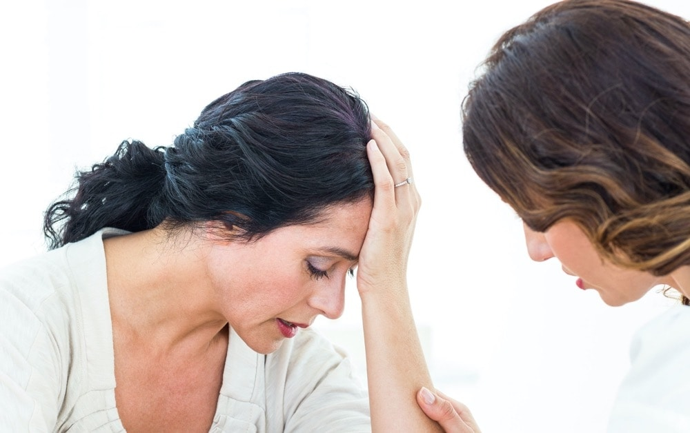 A menopausal woman suffering from anxiety due to endometriosis with a antenatal doctor, Female GP Toowoomba